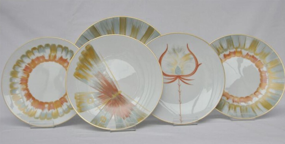 Hand Painted Luxury Dinnerware at The Silver Peacock Inc