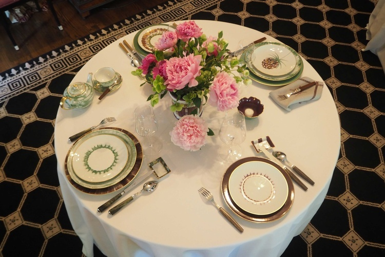Hand Painted French Tableware at The Silver Peacock Inc