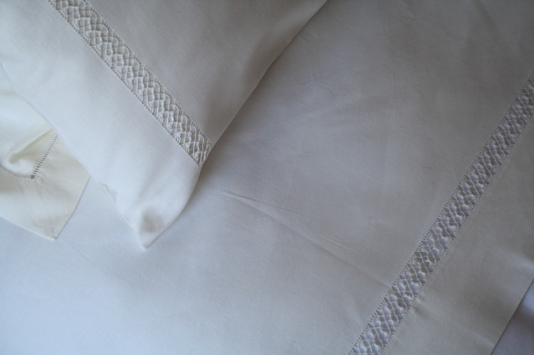 Luxurious customized Bed Linen at The Silver Peacock Inc