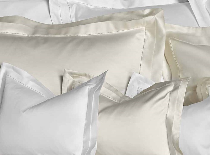 White Silk Pillow Covers at The Silver Peacock Inc