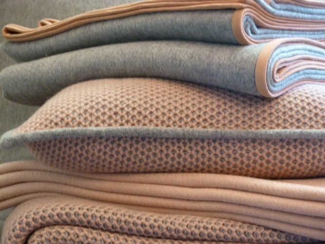Custom Cashmere Blankets and Rugs at The Silver Peacock Inc