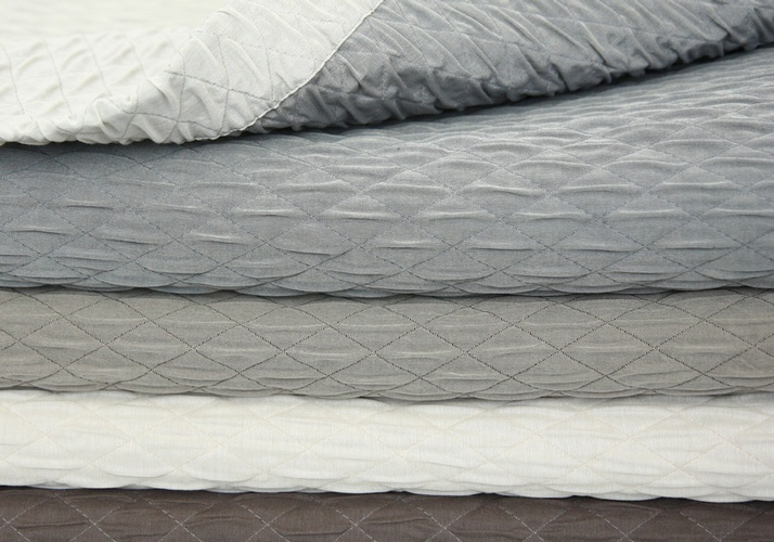 Grey  and White Quilts at The Silver Peacock Inc