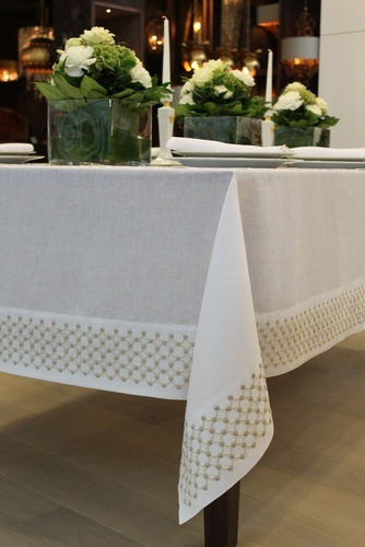 Custom Tablecloth and Accessories at The Silver Peacock Inc