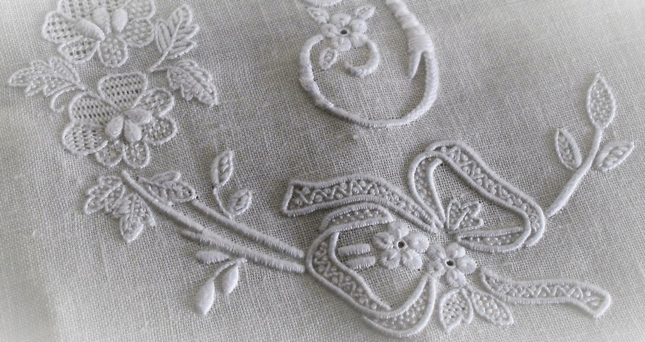 Embroidered Custom Tablecloths at The Silver Peacock Inc