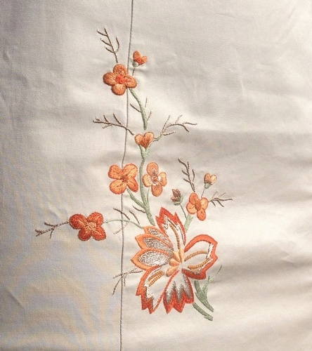 Floral Embroidered Table Runner - Luxury Linens at The Silver Peacock Inc
