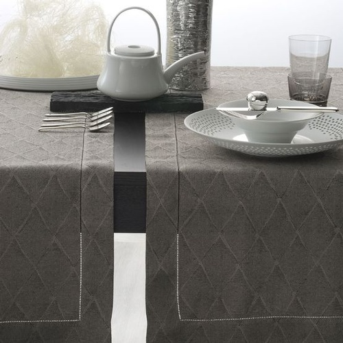 Luxury Table Runners with Hemstitch Border at The Silver Peacock Inc