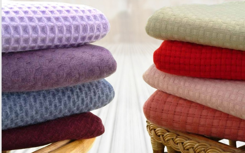 Multicolor Soft Cashmere Blankets at The Silver Peacock Inc