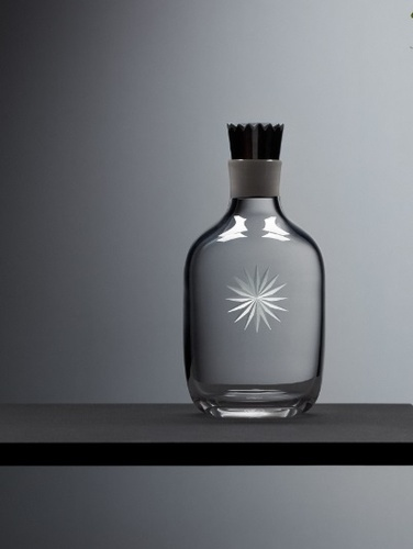 Modern Engraved Crystal Decanter - Luxury Barware Collection at The Silver Peacock Inc