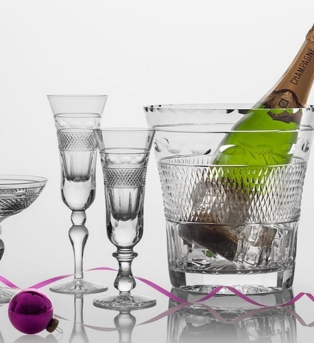 Champagne Stemware Collection at The Silver Peacock Inc