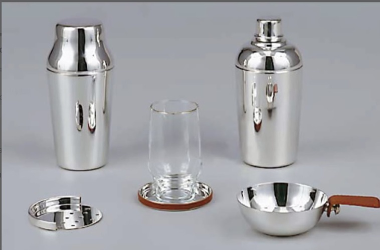 Silver Bar Shaker Bottles - Luxury Barware at The Silver Peacock Inc