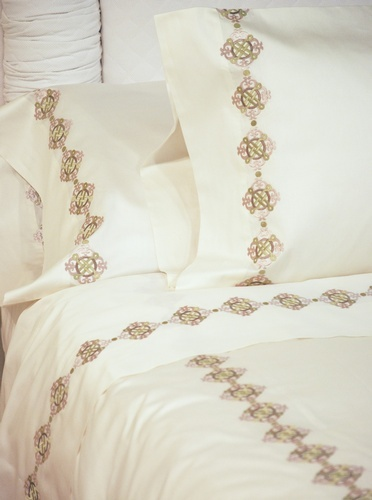 Custom Printed Bed Sheet at The Silver Peacock Inc - Contemporary Luxury Linens