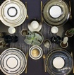 Luxury Hand Painted French Dinnerware at The Silver Peacock Inc