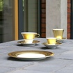 Hering Berlin Polite Gold Dinnerware at The Silver Peacock Inc