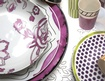 Pink and White Isi Milano Luxury Dinnerware at The Silver Peacock Inc