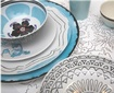 Blue and White Isi Milano Collection Luxury Dinnerware at The Silver Peacock Inc