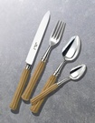 Alain Saint Joanis Silver Flatware with Montana olivewood Handle at The Silver Peacock Inc