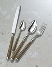 Silver-plated Handle, Gold Lacquered Hand Made Silver Cutlery at The Silver Peacock Inc