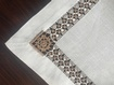 Tablecloth with floral Crochet Border - Custom Table Linens at The Silver Peacock Inc