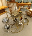 Glass Bar Cart - Luxury Barware Collection at The Silver Peacock Inc