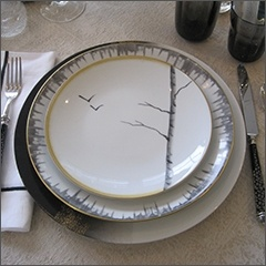 Luxury tableware at The Silver Peacock Inc.