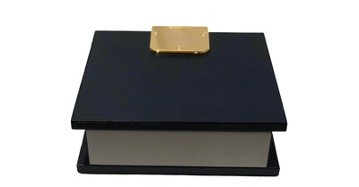 Leather Box With Brass Hinges