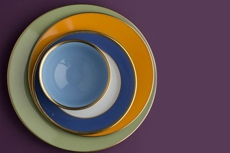 Porcelain Legle Dinnerware at The Silver Peacock Inc.