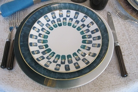 Ceramic Dining Plate - Contemporary French Dinnerware at The Silver Peacock Inc.