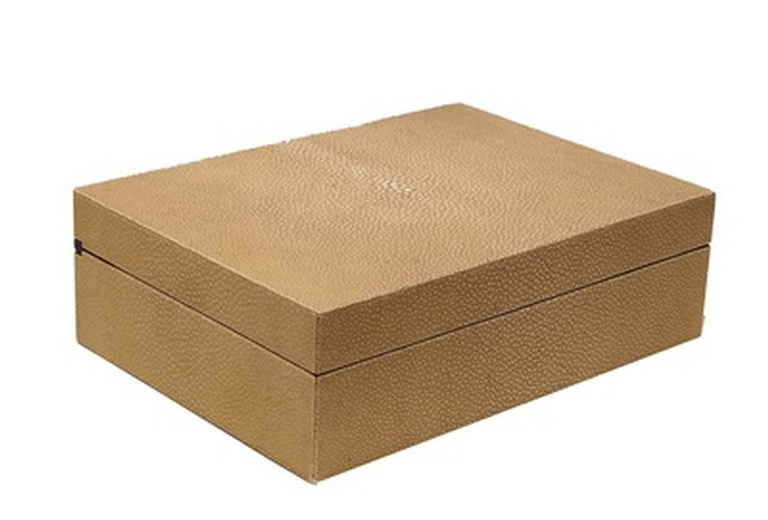 Ivory Shagreen Exquisite Box at the Silver Peacock Inc - Leather Desk Accessories