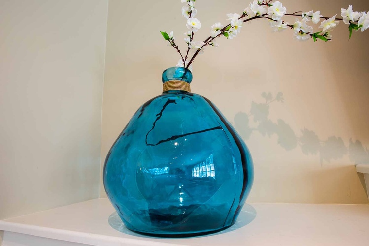 Decorative Glass Flower Pot - Living Room Accessories by PARSONS INTERIORS LTD.
