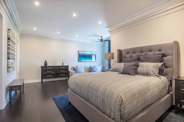 Custom Bedding in Oakville ON by PARSONS INTERIORS LTD.