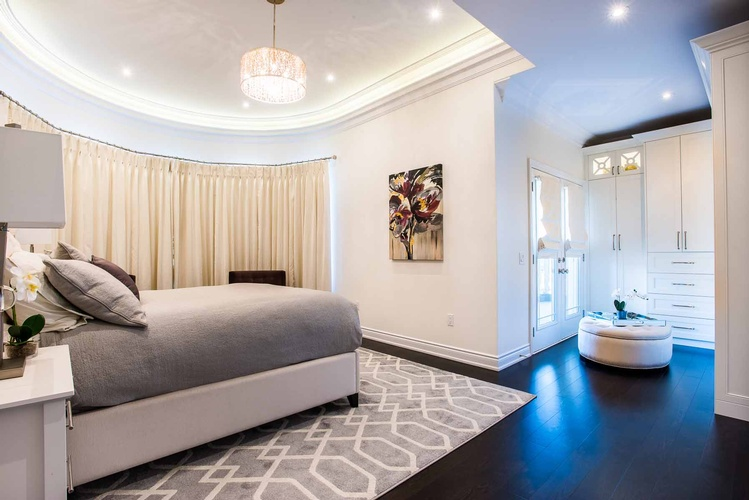 Bedroom Area Rug in Mississauga by PARSONS INTERIORS LTD.