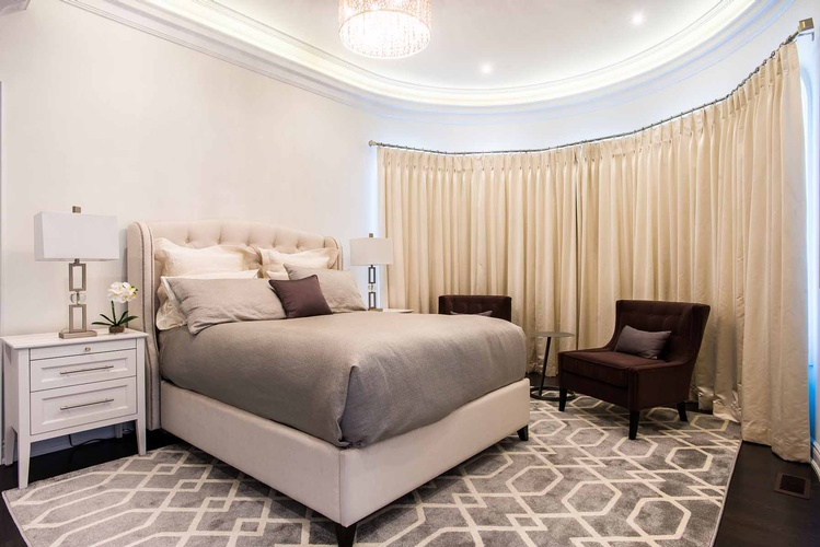 Custom Bedding in Mississauga by PARSONS INTERIORS LTD.