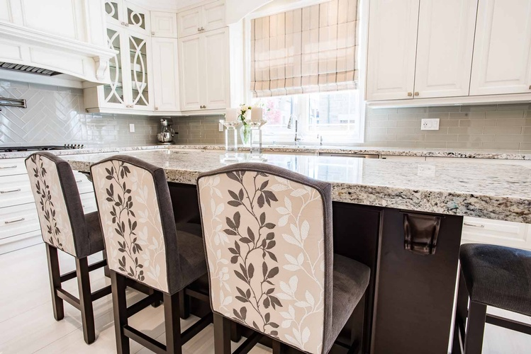 Kitchen Custom Counter Height Chairs - Custom Furnishings in Oakville by PARSONS INTERIORS LTD.