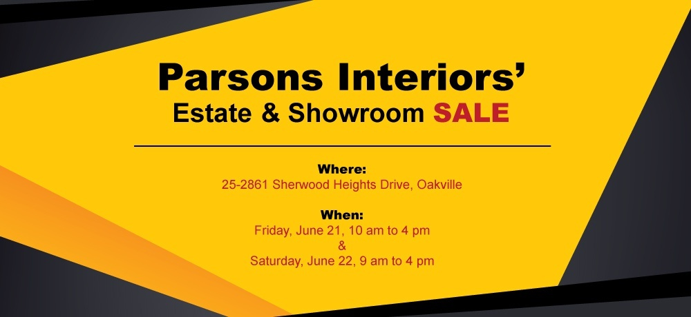 Parsons Interiors Estate and Showroom Sale
