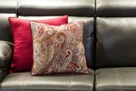 Decorative Pillows on Sofa - Upholstery in Oakville ON at PARSONS INTERIORS LTD.