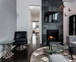 Fireplace Design in Oakville ON by PARSONS INTERIORS LTD.