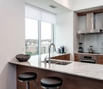 Old Mill Condo Kitchen Design Oakville by PARSONS INTERIORS LTD.