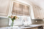 Roman Blinds for Kitchen Windows - Window Treatments in Oakville by PARSONS INTERIORS LTD.