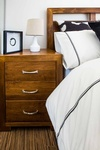Rustic Guest Bedroom Side Table Accessories by PARSONS INTERIORS LTD.