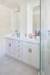 Guest Bathroom Vanity Design by PARSONS INTERIORS LTD.