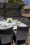 Outdoor Patio Dining Furniture by PARSONS INTERIORS LTD.