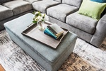 Grey Upholstered Storage Ottoman - Custom Furnishings GTA by PARSONS INTERIORS LTD.