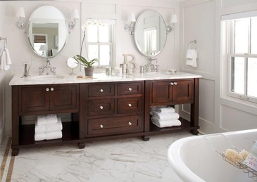 Bathroom Design in Oakville ON by Parsons Interiors Ltd.