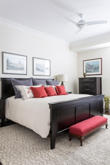 Master Bedroom Design Oakville ON by Parsons Interiors Ltd.
