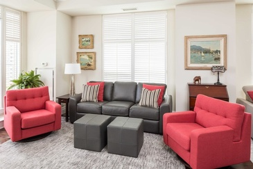 Family Room Bloor West - Custom Sofa Mississauga by Parsons Interiors Ltd.