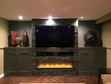Fire Place In Lorne Park Home
