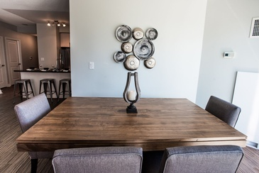 Dining Room Interior Design in Oakville ON by Parsons Interiors Ltd.