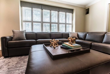 Family Room Ottoman - Sectional Sofas Mississauga by Parsons Interiors Ltd.