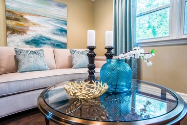 Living Room Accessories Mississauga - Home Interior Design Consultant Oakville at Parsons Interiors Ltd.