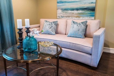Living Room Accessories by Interior Design Specialist Mississauga at Parsons Interiors Ltd.